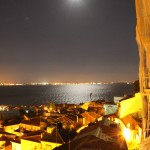 The view of the river from our back terrace in Lisbon.